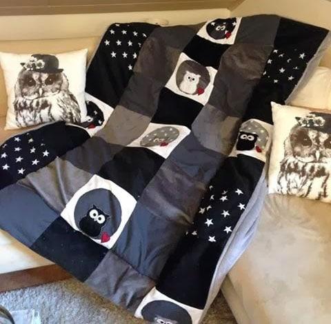 eine patchworkdecke n hen das ideale geschenk. Black Bedroom Furniture Sets. Home Design Ideas