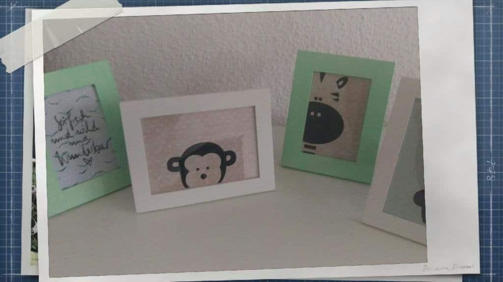 Mit dem Silhouette Portrait geplottete Motive als Deko im Kinderzimmer